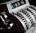 Antique cash register close up Royalty Free Stock Photography