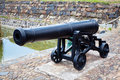 Antique cast iron cannon Royalty Free Stock Images