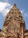 Antique castle of the phanom rung stone Royalty Free Stock Image