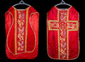 Antique chasuble front and back of an th century vestment Stock Image