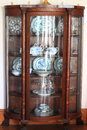 Antique china cabinet wooden built and used at early twentieth century in a farm house Stock Images