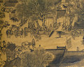 Antique Chinese Silk Painting Royalty Free Stock Photos