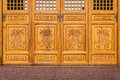 The antique Chinese wooden carved doors