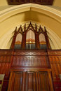 Antique Church Pipe Organ Stock Photo