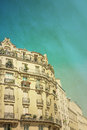 Antique city building in paris Royalty Free Stock Photo