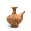Antique clay ewer on white background Royalty Free Stock Images