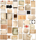 Antique clipboard and photo corner, aged paper sheets, frames, b Royalty Free Stock Photo