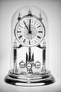 Antique clock classic almost at twelve in black and white Royalty Free Stock Images