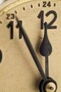 Antique clock close up to Stock Photo