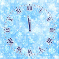 Antique clock face on the abstract background Royalty Free Stock Photo