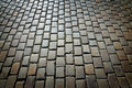 Antique cobblestone pavement