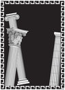 Antique Columns Royalty Free Stock Photos