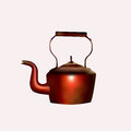 Antique copper kettle vector made with mesh tool Stock Image