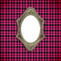 Antique Curve frame on fabric Stock Image