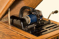Antique Cylinder Phonograph Detail Royalty Free Stock Photo