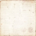 Antique document with faded text background created by grungy washed out floral details Stock Images