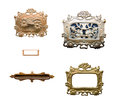 Antique door decorations on the white background Royalty Free Stock Images