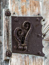 Antique door, keyhole - 5 Royalty Free Stock Photo