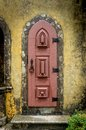 Antique door old in the city of lisbon portugal Stock Image