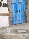 Antique Door in a Tunisia House Stock Photos