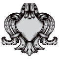 Antique emblem old style vintage frame created in sketch style Stock Image