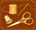 Antique embroidery gold set Стоковые Фото