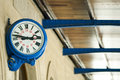 Antique external clock on  railway station Royalty Free Stock Images