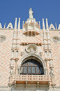 Antique facade of The Doge's Palace, Venice Royalty Free Stock Photos