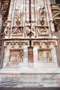 Antique facade with statues and ornaments made ​​of stone vintage Royalty Free Stock Photography