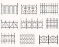 Antique fences first set vector of historic iron Royalty Free Stock Image