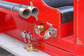 Antique fire engine detail of a restored Stock Photography