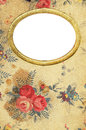 Antique floral diary cover with golden frame for your pictures Royalty Free Stock Photos