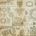 Antique floral montage or collage background Royalty Free Stock Photo