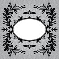 Antique frame border on a grey background Royalty Free Stock Photos