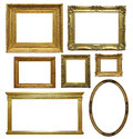 Antique frames isolated various old picture on a white background Stock Photo