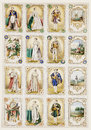 Antique french nobility trade cards Stock Photography