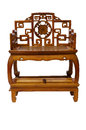 Antique furniture chinese ming chair made from elm wood Royalty Free Stock Photo