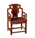 Antique furniture chinese ming chair made from elm wood Stock Images