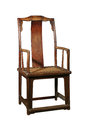 Antique furniture chinese ming chair made from elm wood Stock Image