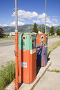 Antique gas pumps Royalty Free Stock Photo