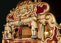 Antique german fairground organ playing Royalty Free Stock Photo
