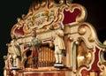Antique german fairground organ playing Royalty Free Stock Photo