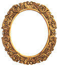 Antique gilded frame isolated with clipping path Stock Photo