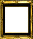 Antique gilt frame Stock Photo