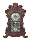 Antique gingerbread clock isolated. Royalty Free Stock Photo