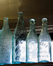 Antique glass bottles Royalty Free Stock Photo