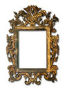 Antique glass frame Royalty Free Stock Photography