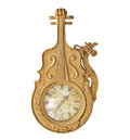 Antique gold clock Royalty Free Stock Photo