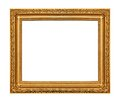 The antique gold frame Stock Images