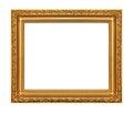 The antique gold frame